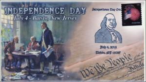2015, Independence Day, Ben Franklin, Declaration, Batsto NJ, 15-300