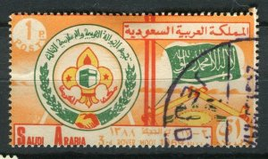 SAUDI ARABIA; 1969 early Rover Moot issue used 1p. value