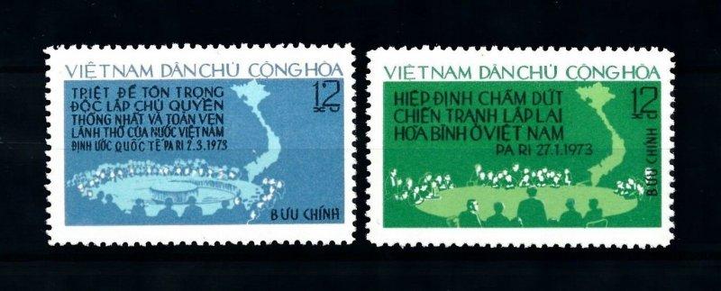 Vietnam 1975 MNH Stamps Scott 753-754 Peace Paris Agreement