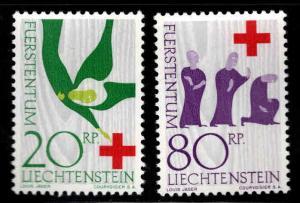 LIECHTENSTEIN Scott 376-377 MNH** 1963 Red Cross short set