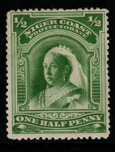 NIGER COAST SG51c 1894 ½d YELLOW-GREEN p13½-14 MTD MINT
