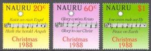Nauru Sc# 355-357 MNH 1988 Christmas
