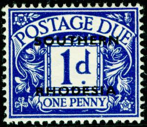 RHODESIA SGD2, 1d violet blue, M MINT.