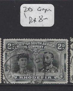 RHODESIA (P0109B) DOUBLE HEAD  2D  VFU  COPY 1