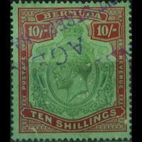 BERMUDA 1924 - Scott# 96 King 10s Used