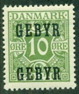 DENMARK #I1, Mint Never Hinged, Scott $50.00