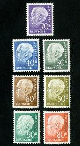 Germany Stamps # 755-61 XF OG NH