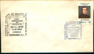 MEXICO 1243 FDC 250th Anniv Birth of Father Francisco Xavier Clavijero. VF.