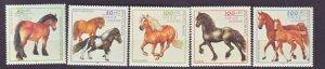 J22491 Jlstamps 1997 germany set mnh #b813-7 horses