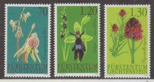 Liechtenstein Scott #1241-1242-1243 Stamps - Mint NH Set