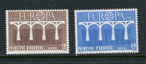 Spanish Andorra #162-3 MNH 1984 Europa