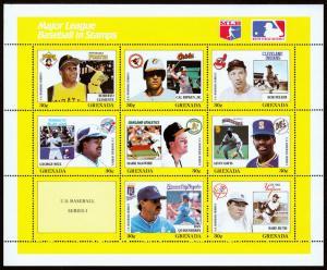 Grenada Scott 1665 Reprint Baseball Series (1988) Mint NH VF C