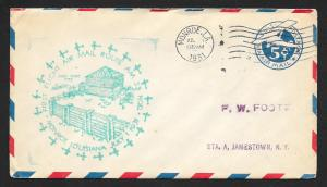 UNITED STATES First Flight Cover 1931 Monroe to Jamestown