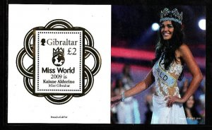 Gibraltar-Sc#1238-unused NH sheet-Miss World Pageant-2010-