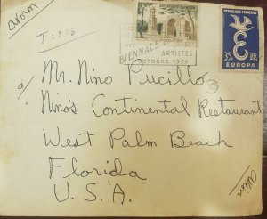 O) 1959 FRANCE, SAINT REMY THE ANTIQUES - MONUMENT, DOVE 35f, AIRMAIL TO USA