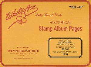 WHITE ACE 2018 US Regular Issue Singles & Coil Pairs Album Supplement RSC-42