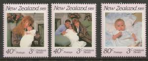 NEW ZEALAND   B134-B136   MNH    ROYALITY SET 1989, SINGLES