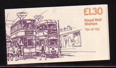 Great Britain Sc BK528 £1.30 Glasgow Tram stamp bklt