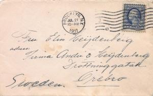 U. S., Scott #378 Used on 1911 Cover from Brooklyn, N.Y. to Orebro, Sweden