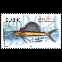 MAYOTTE 2003 - Scott# 187 Swordfish Set of 1 NH