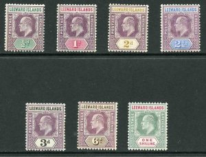 Leeward Islands SG29/35 KEVII Wmk Mult Crown CA Set of 7 M/M