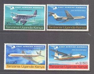 KUT Scott 172/179 - SG235/238, 1967 East African Airways Set MH*