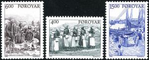 STAMP STATION PERTH Faroe Islands #290-292 Fa285-287 MNH CV$8.75