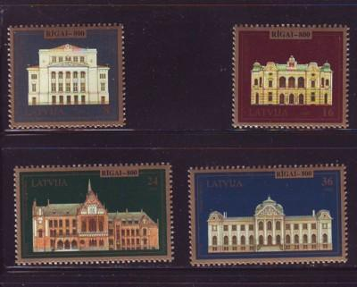 Latvia Sc 403-6 1995 800th Anniv Riga stamp set mint NH