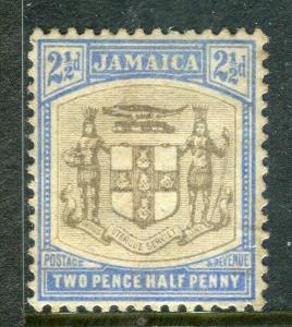 JAMAICA; 1903 early Arms issue fine Mint hinged 2.5d. value