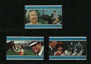 Ascension Island: 1997 Queen Elizabeth II Golden Wedding, MNH set