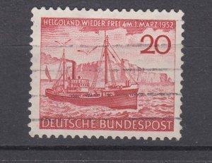 J28711, 1952 germany set of 1 used #690 ship