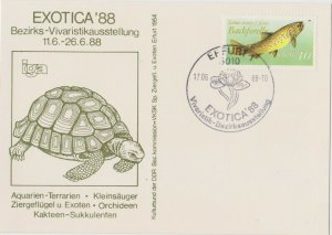 DDR34) East Germany 1987 Fresh Water Fish - Brown Trout