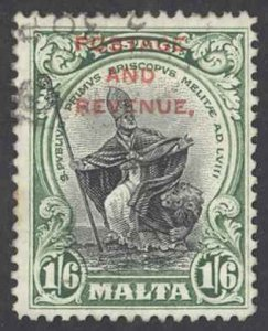 Malta Sc# 161 Used 1928 1sh6p Overprint