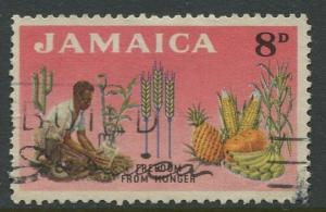 Jamaica -Scott 202 - Freedom from Hunger -1963 - Used - Single 8p- Stamp