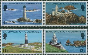 Guernsey 1976 SG135-138 Lighthouses set MNH