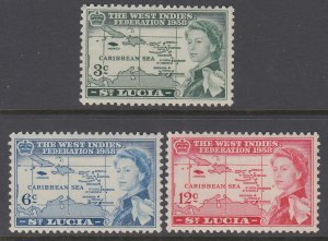 St Lucia 170-172 Maps MNH VF