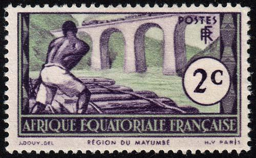 French Equatorial Africa - Scott 34 - Mint-Hinged - Thin