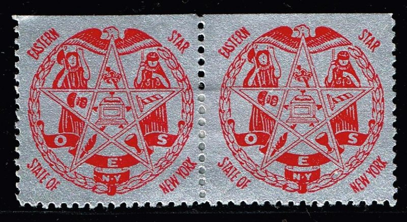 US STAMP  O.E.S. Masonic CHARITY MH/OG PAIR Stamps COLLECTION LOT #1