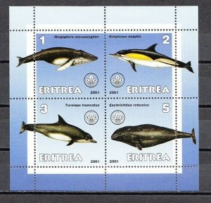 Eritrea, 2001 Cinderella issue. Dolphins & Whales sheet of 4. *