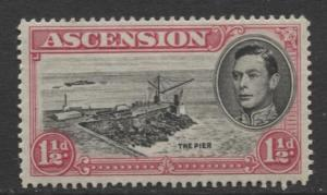 ASCENSION- Scott 42A - The Pier -1949 - MNH - Single 1.1/2d Stamp