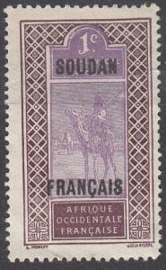 French Sudan, Sc. # 24, Used, Camel Rider, 1921