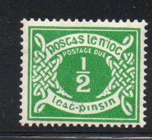 Ireland Sc J5 1943 1/2d emerald Postage Due stamp mint