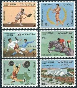 Jordan 990-995,MNH.Michel 1058-1063. Sport,1976.Tennis,Soccer,Weight lifting,