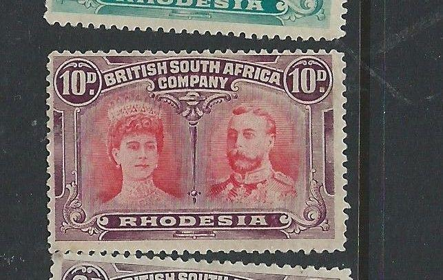 RHODESIA DOUBLE HEAD(P1608B)OUTSTANDING QUALITY 10D SG149 RHODESIA DOUBLE HEAD