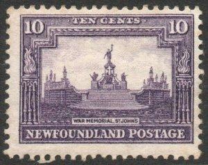 NEWFOUNDLAND-1931 10c Violet Sg 205 MOUNTED MINT V46292