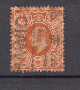 J27549 1902-11 great britain used #133 king