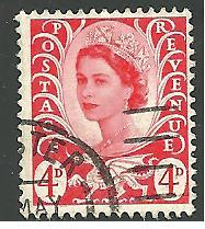 GB - Wales & Monmouthshire #10, Queen Elizabeth, Used**
