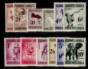 SOUTH WEST AFRICA QEII SG154-165, complete set, M MINT. Cat £50.