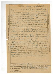 1943 US Army NATOUSA PWE 151 Oran Algeria POW Cover to Italy Prisoner of war