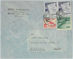 81538 - CHILE - POSTAL HISTORY -    AIRMAIL COVER to ITALY  1958